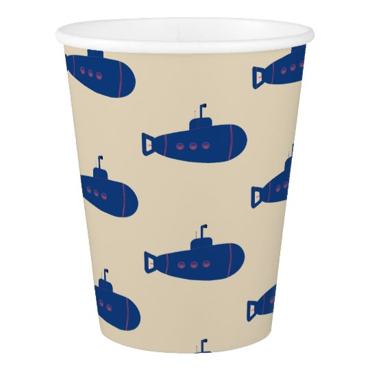 Blue Submarine Paper Cup