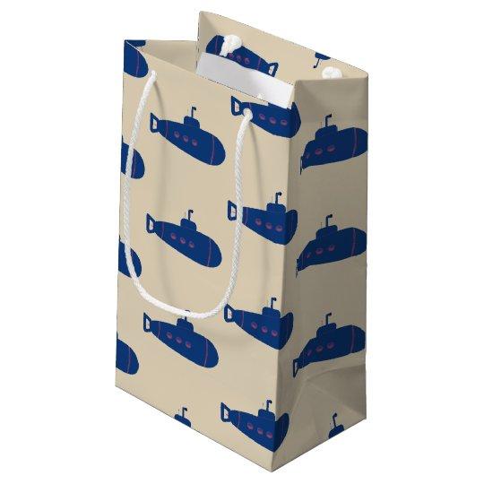 Blue Submarine Small Gift Bag