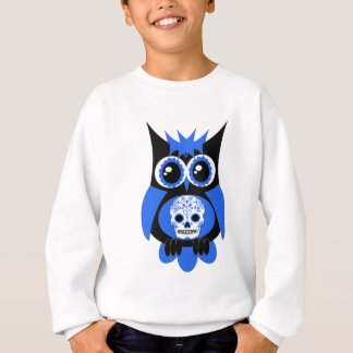 Blue Sugar Skull Owl Sweatshirt