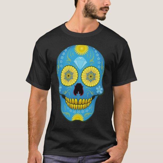 Blue Sugar Skull T-Shirt