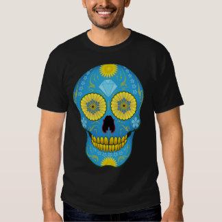 Blue Sugar Skull Tshirts