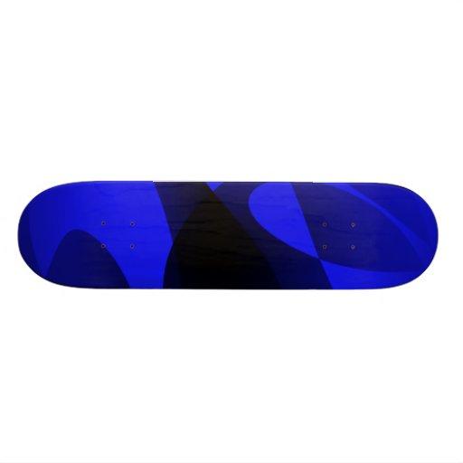 Blue Sumi-e Skate Deck