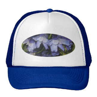 Blue Summer Flowers Cap