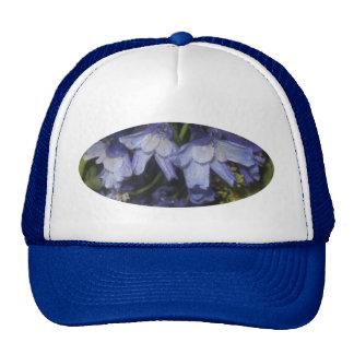 Blue Summer Flowers Mesh Hats