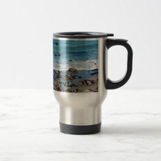 Blue summer ocean and beach mug