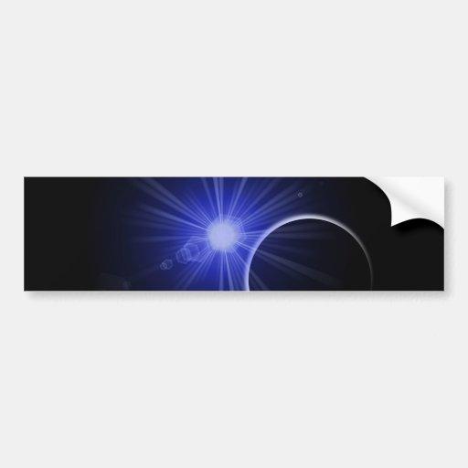 Blue Sun Black Planet Bumper Stickers