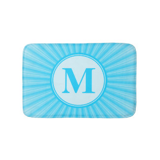 Blue Sun Monogram Bath Mats