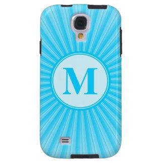 Blue Sun Monogram Customisable Galaxy S4 Case