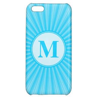Blue Sun Monogram Customisable iPhone 5C Case