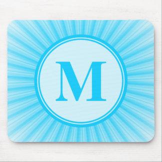 Blue Sun Monogram Mouse Pad