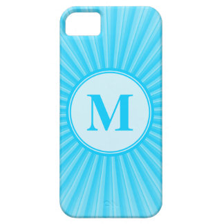 Blue Sun Monogram Personalised iPhone 5 Covers