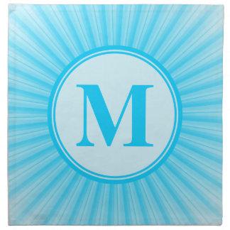 Blue Sun Monogram Personalised Napkins