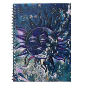 Blue Sun Moon Notebook