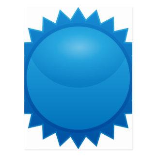 Blue Sun Star Sticker Icon Postcard