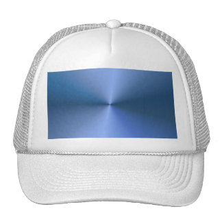 "Blue ""sunburst"" background mesh hat"