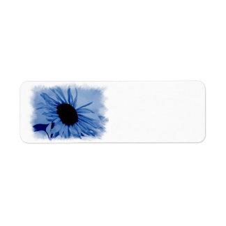 Blue Sunflower Avery Label Return Address Label