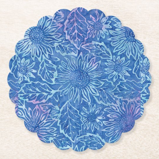 Blue Sunflower Coaster