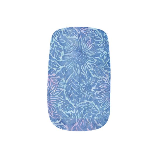 Blue Sunflower Nail Art