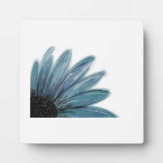 Blue Sunflower Plaque with Easel