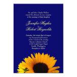 Blue Sunflower Wedding Invitation 13 Cm X 18 Cm Invitation Card