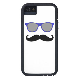 Blue Sunglasses and Black Moustache iPhone 5 Case