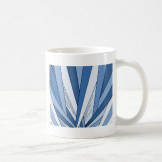 Blue Sunrise Art Deco Design Basic White Mug