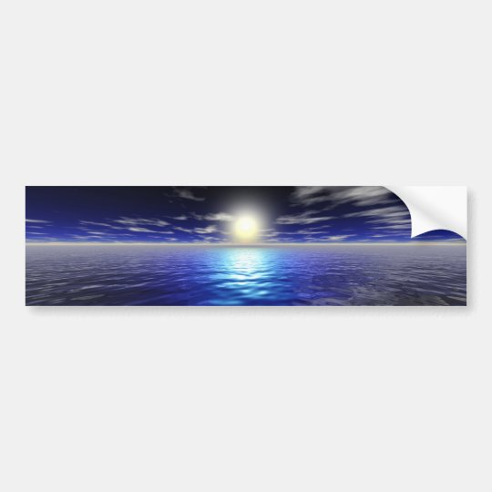 Blue Sunrise Bumper Sticker