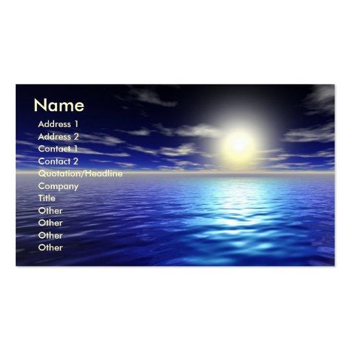 Blue Sunrise Pack Of Standard Business Cards