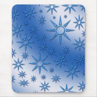 Blue suns seamless pattern mousepads