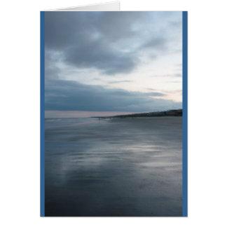 Blue Sunset Beach Card