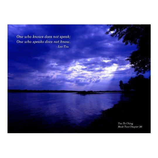Blue Sunset - Lao Tzu quote Postcard