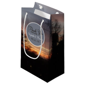 Blue Sunset Sky Wedding Small Gift Bag