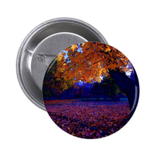 Blue Sunset Trees 6 Cm Round Badge