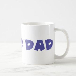 blue super dad icon mug