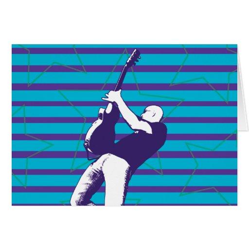 Blue Superstar Birthday Card