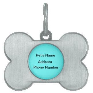 Blue Surfboard Design Pet Tag