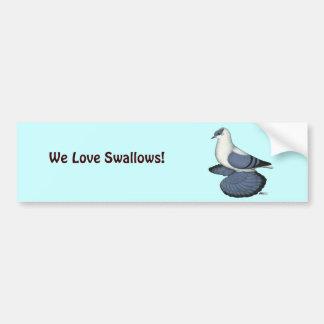 Blue Swallow Pigeon Bumper Sticker