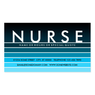 blue swatch NURSE Pack Of Standard Business Cards
