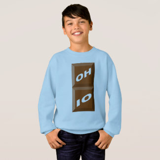 BLUE SWEAT SHIRT HANES SKY OHIO CHOCOLATE