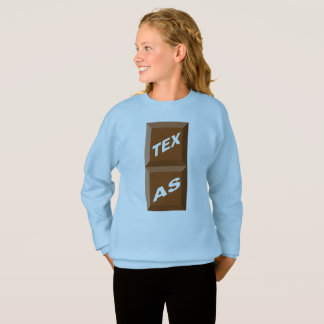 BLUE SWEAT SHIRT HANES SKY TEXAS CHOCOLATE