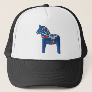 Blue Swedish Dala Horse Trucker Hat