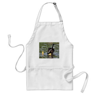 Blue Swedish Ducklings with Adult Duck Standard Apron