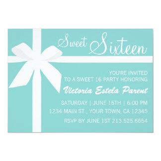 Blue Sweet 16 Invitation