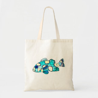Blue Sweetlips Fish Canvas Bags