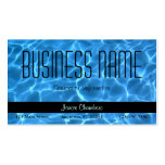 Blue Swimming Pool Pattern Pack Of Standard Business Cards