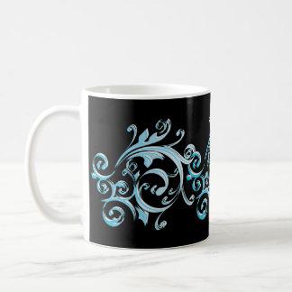 Blue Swirl Art Mug