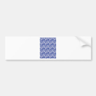 Blue Swirl Bumper Sticker
