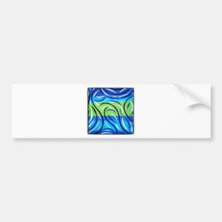 Blue Swirl Bumper Sticker