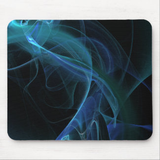 Blue Swirl Fractal Flame Mousepads