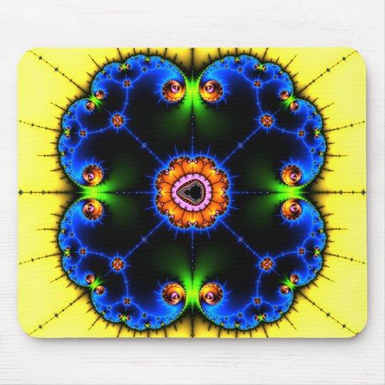 Blue Swirl Fractal Mousepad